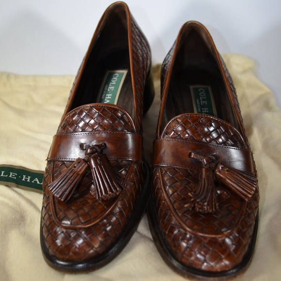 994b62d59f421 Cole Haan Leather Basket Weave